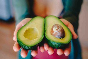 perfectly cut avocado